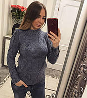 Вязаный зимний свитер (арт. 150844242)