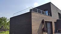 Ограждение из нержавеющей стали на террасе в частном доме