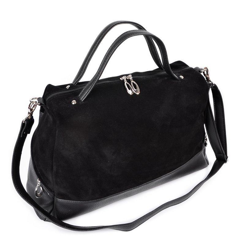 63e1294b3e5d Большая замшевая сумка женская черная на плечо - Интернет магазин сумок  SUMKOFF - женские и мужские