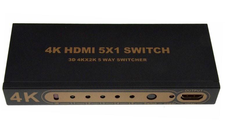 Пассивный Hdmi свич с пультом ДУ, 1080Р, 1,4 версия, 5 портов, Blister