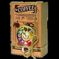 Кофейный набор Coffee Time 50 грамм кофе в подарочной  упаковке + 5 плиточек молочного шоколада