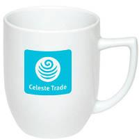 Чашка керамическая Аманда. Цвет - белый. Для нанесения логотипа методом обжиговой деколи