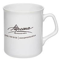 Чашка керамическая Джокер. Цвет - белый. Для нанесения логотипа методом обжиговой деколи