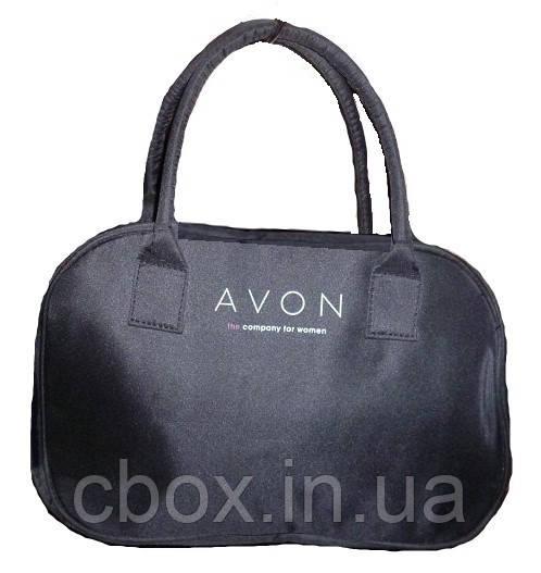 Косметичка черная, дорожная, бьюти кейс, вместительная,  Avon, 01513