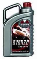Моторное масло 5w-40 Midland Avanza 4л. // синтетика для бенз. и дизельных двигателей.