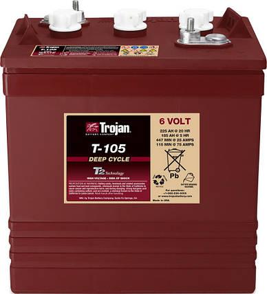 Аккумуляторная батарея TROJAN T-105, 6 Вольт, 225 (185) Ач, фото 2
