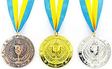 Медальметаллическая на ленте спортивная Bowl 6,5 см
