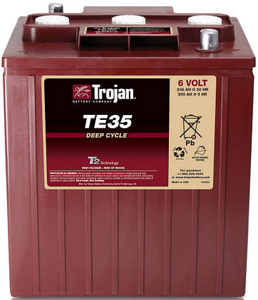 Аккумуляторная батарея TROJAN TE35, 6 Вольт, 245 (200) Ач, фото 2