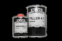 Грунт акриловый KDS Filler 4+1 Normal (серый) 1л