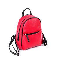Красный маленький рюкзак М124-68/47 с черными вставками, фото 1