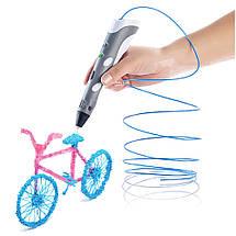 Электронная 3D ручка + Комплект пластика (PLA)  3 цвета по 3 метра , фото 2