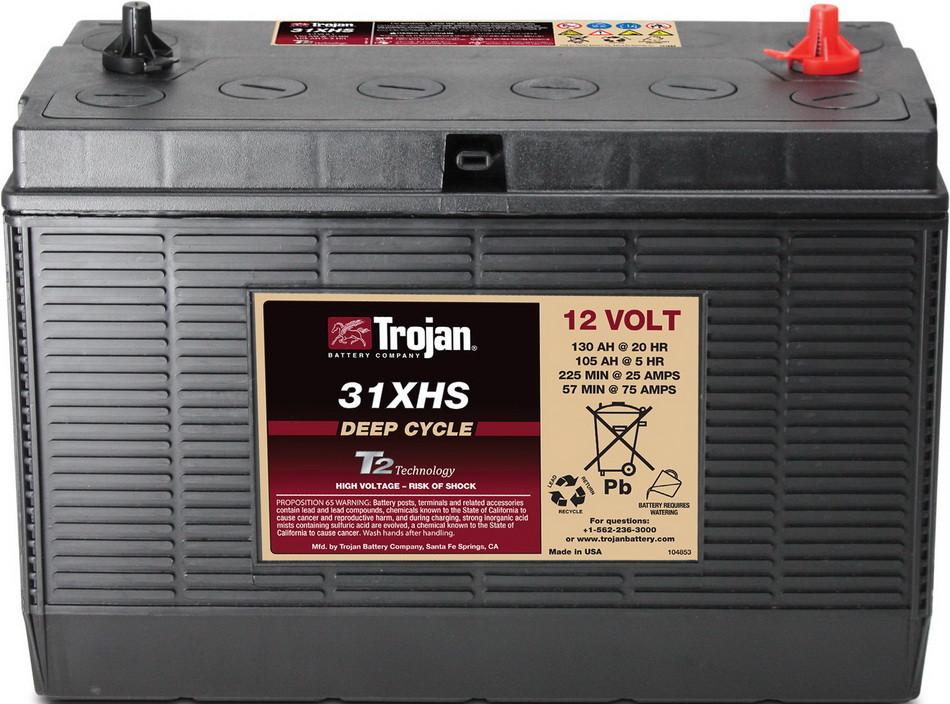Аккумуляторная батарея TROJAN 31XHS, 12 Вольт, 130 (105) Ач