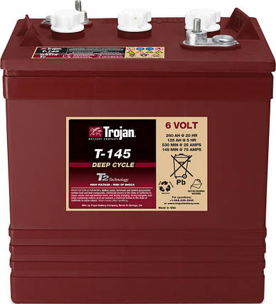Аккумуляторная батарея TROJAN T145, 6 Вольт, 260 (215) Ач, фото 2