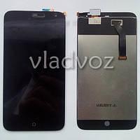 Дисплей модуль экран с сенсором для замены на Meizu MX3 LCD черный