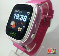 Детские умные часы- телефон с GPS трекером Smart Baby Watch Q100 Розовый