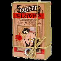 Кофейный набор For Sweet Love Любовь 50 грамм кофе в подарочной  упаковке + 5 плиточек молочного шоколада