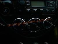 Алюминиевые рамки на ручки переключения печки для Ford Focus Mk1 1998-2004