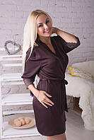 Пижама и халат из шелка, качество люкс Кш017п XXL