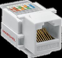 """Компьютерное модульное гнездо RJ45 CAT.5E ТМ""""MARSHEL"""" подходит к розеткам VI-KO"""