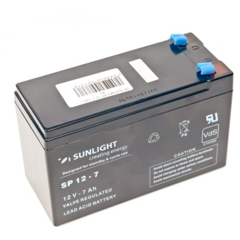 Аккумулятор Sunlight SP 12-7 (12 Вольт, 7 Ач)