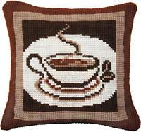 Набор для вышивки подушки крестиком РТ-184 Ароматный кофе