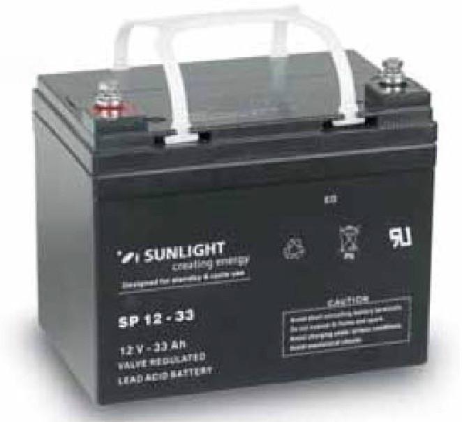 Аккумулятор 12 Вольт 33 Ач, Sunlight SP 12-33