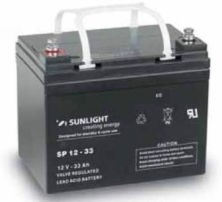 Аккумулятор 12 Вольт 33 Ач, Sunlight SP 12-33, фото 2