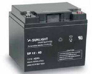 Аккумулятор 12 Вольт 40 Ач, Sunlight SP 12-40