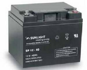 Аккумулятор 12 Вольт 40 Ач, Sunlight SP 12-40, фото 2