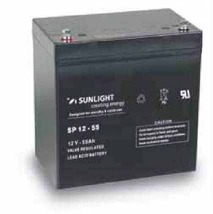AGM аккумулятор 12 Вольт 55 Ач, Sunlight SP 12-55, фото 2