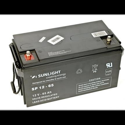 Аккумулятор 12 Вольт 65 Ач, Sunlight SP 12-65, фото 2