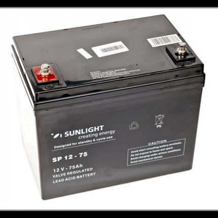 Аккумулятор 12 Вольт 75 Ач, Sunlight SP 12-75, фото 2