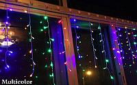 Гирлянда - сталактиты, бахрома, рваная штора 120Led 3х0,6м, прозрачный провод, мультик