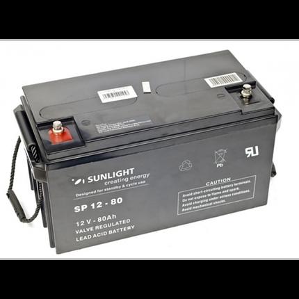 Аккумулятор Sunlight SP 12-80 (12 Вольт, 80 Ач), фото 2