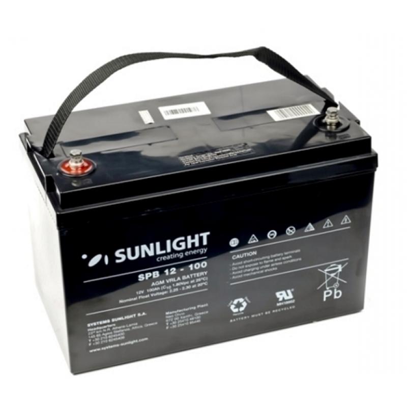Аккумулятор 12 Вольт 100 Ач, Sunlight SP12-100