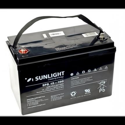 Аккумулятор 12 Вольт 100 Ач, Sunlight SP12-100, фото 2