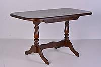 Стол деревянный Аврора на 2 ногах ( орех темный )