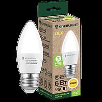 Лампа Цоколь Светодиодная ENERLIGHT C37 / 6 Вт / 3000 К / 220 В / E27
