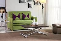 Столы-трансформеры с толстой столешницей – стильное и практичное решение для гостиной или кухни.