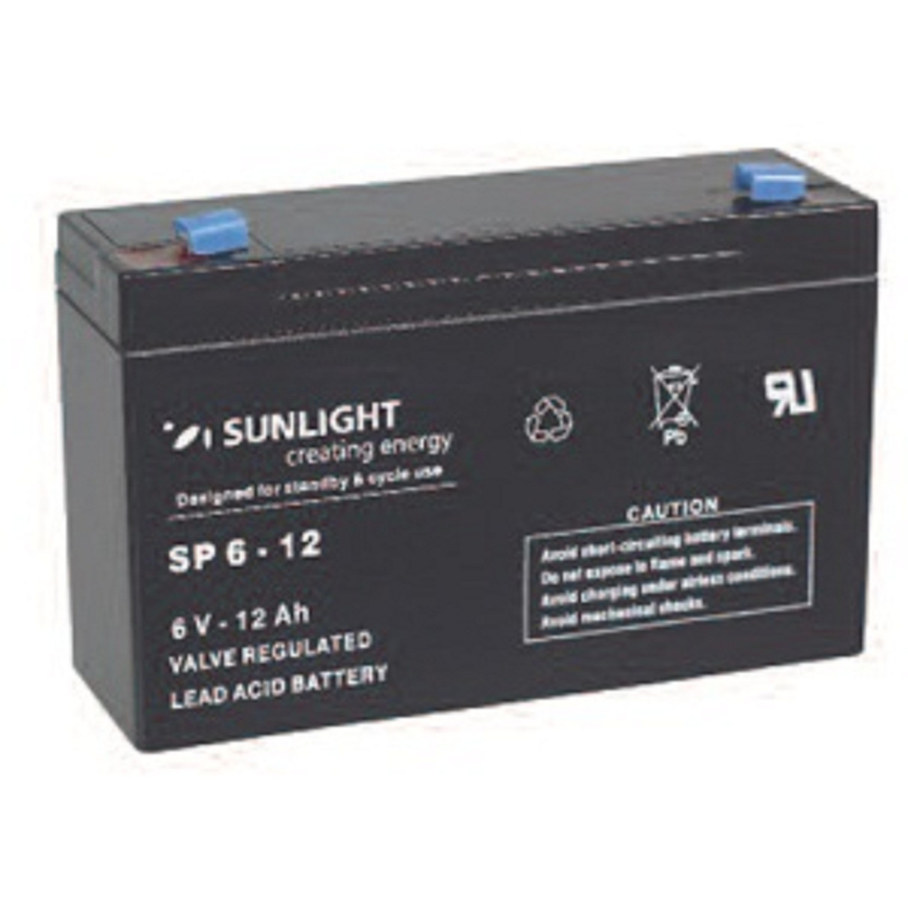 Аккумулятор 6 В, 12 Ач, Sunlight SP6-12
