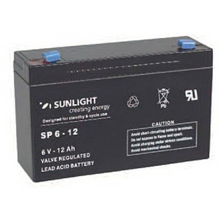 Аккумулятор 6 В, 12 Ач, Sunlight SP6-12, фото 2