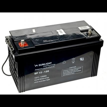 Аккумулятор 12 Вольт 120 Ач, Sunlight SP 12-120, фото 2
