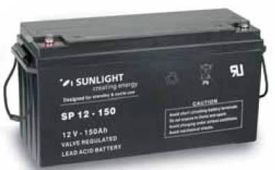 Аккумулятор 12 Вольт 150 Ач, Sunlight SP 12-150, фото 2