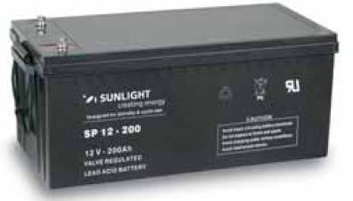 Аккумулятор 12 Вольт 200 Ач, Sunlight SP 12-200, фото 2