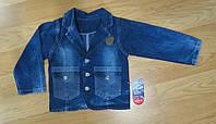 Джинсовый пиджак для девочки Турция (рост 104, 110, 116)