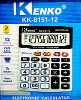 Калькулятор настольный, бухгалтерский (финансовый), Kenko KK-8151-12, 12 цифр, фото 1