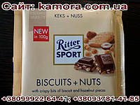 Шоколад Ritter sport орехи и криспы (Ритер спорт) 100г. Германия