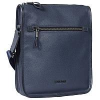 Мужская кожаная сумка синяя от Итальянского бренда Lare Boss LB00601151-31