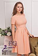 """Платье летнее """"Fleur"""" - распродажа модели персик, 42"""