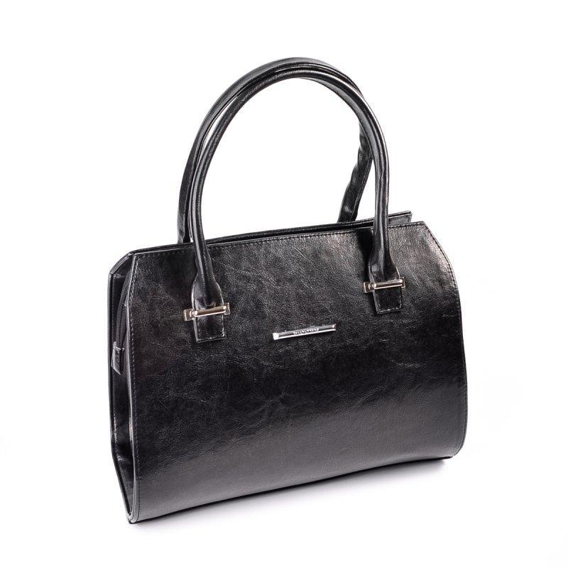 ea05c4b84d89 Женская каркасная сумка М50-Z черная глянцевая деловая - Интернет магазин  сумок SUMKOFF - женские